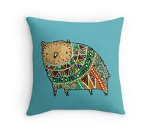 Aztec Bear Throw Pillow