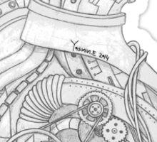The Mechanical Heart - הלב המכני (Grey/אפור) Sticker