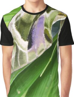 Oleander Hawk Moth on Radiating Plant Graphic T-Shirt