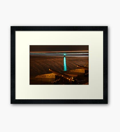 Red Jet 3 passing the Royal Yacht Squadron at Night Framed Print