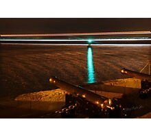 Red Jet 3 passing the Royal Yacht Squadron at Night Photographic Print