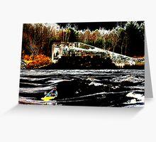 Dam Wave  Greeting Card