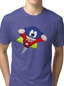 Arcade Classic - Bomb Jack Figure Tri-blend T-Shirt