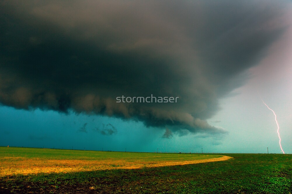 Shelf Cloud Overhead by Brian Barnes StormChase.com