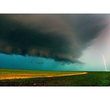 Shelf Cloud Overhead Photographic Print