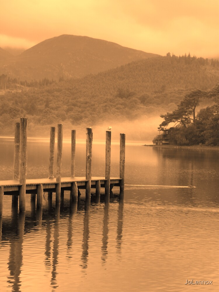 Misty Morning On Derwent Water by JoLennox