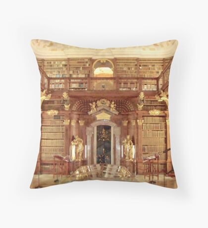 The Monastery Library, Melk, Austria Throw Pillow