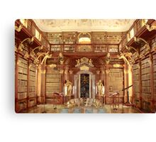 The Monastery Library, Melk, Austria Canvas Print