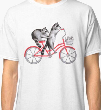 Cycling raccoons  Classic T-Shirt