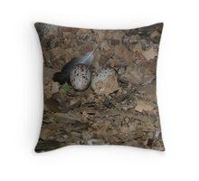 Turkey Vulture Eggs June 2007 Throw Pillow