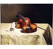 LONELY VIOLIN Photographic Print