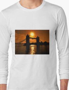 Sunrise Over Tower Bridge Long Sleeve T-Shirt