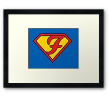 Super F Framed Print