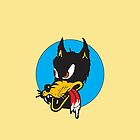 Rockabilly Cartoon Wolf by TexasBarFight