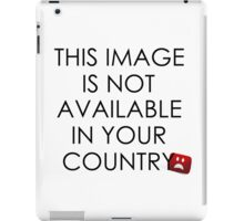 This image is not available in your country iPad Case/Skin