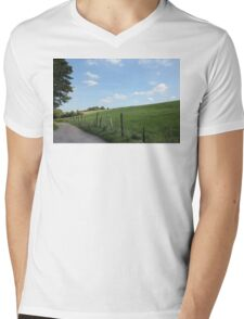 """Scenic German Countryside """"Bergisches Land"""" Mens V-Neck T-Shirt"""