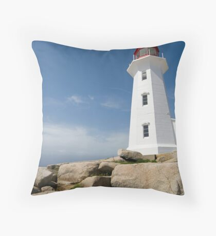 Peggys Cove Lighthouse Throw Pillow