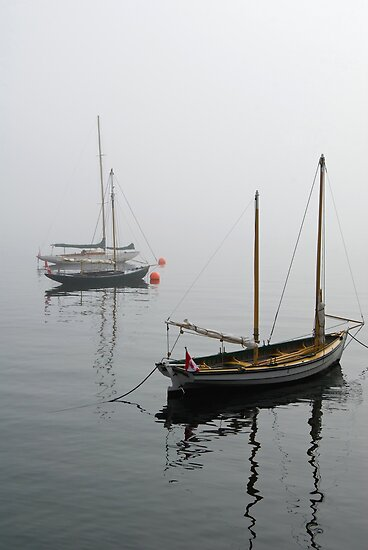 Foggy Boats by Mary  Lane