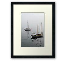Foggy Boats Framed Print