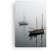 Foggy Boats Canvas Print