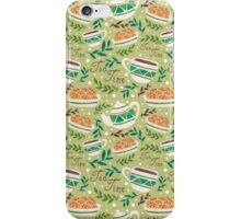 Green Tea Time Pattern iPhone Case/Skin