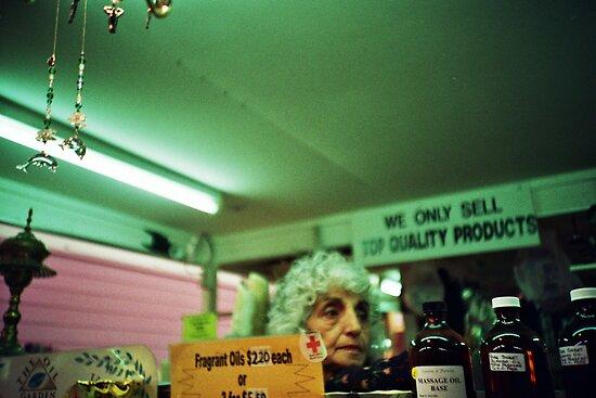 Lady with Oils by scottwynn