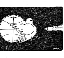 World and pigeon by Ercan BAYSAL