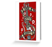 Bass Battle Fight! Greeting Card
