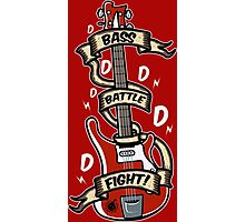 Bass Battle Fight! Photographic Print