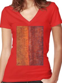 Narrow Divide original painting Women's Fitted V-Neck T-Shirt