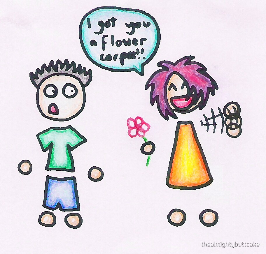 Flower corpse! by thealmightybuttcake