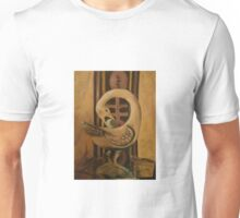 Brown Sankofa Bird Unisex T-Shirt
