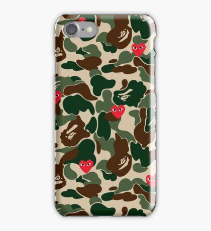 CDG BAPE WOODLAND CAMO iPhone Case/Skin