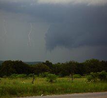 Amazing Ultra Rare - Step Leaders Lightning Strike by Brian Barnes StormChase.com