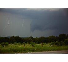 Amazing Ultra Rare - Step Leaders Lightning Strike Photographic Print