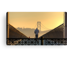 Loneliness of the long distance runner Canvas Print