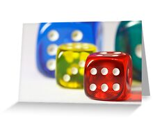 Dice Greeting Card