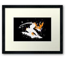 Varus Blight Crystal Ink Black Framed Print