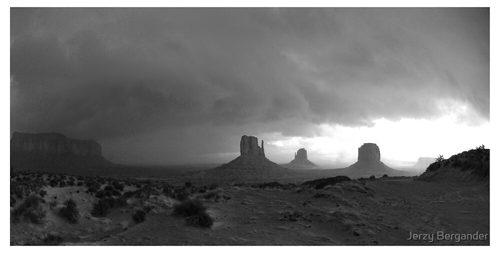 Navajo Land 3 by Jerzy Bergander