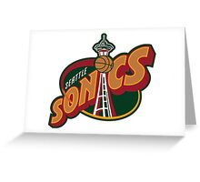Seattle Supersonics Greeting Card