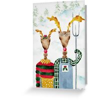 Reindeer Couple Greeting Card