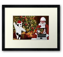 "✰˚ ˛★* ""SANTA IF THEY COULD ONLY SEE US NOW"" HO ho HO ✰˚ ˛★* Framed Print"