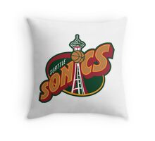 Seattle Supersonics Throw Pillow
