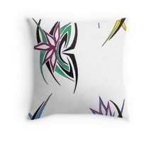 Flowing Spikes Throw Pillow