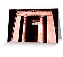 Bettendorf Mausoleum Greeting Card