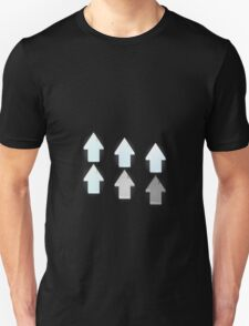 Glitch Groddle Land groddle up arrows Unisex T-Shirt