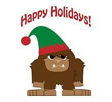 Happy Holidays! Bigfoot Elf by Eggtooth
