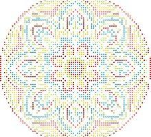 Mandala - Circle Ethnic Dot Ornament by magicmandala