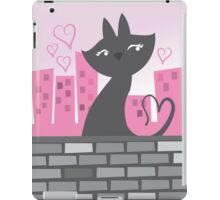 Sweet City kitty on a stone wall iPad Case/Skin