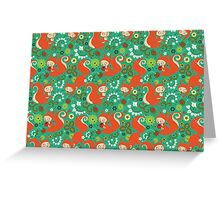 Nutty Squirrel Pattern  Greeting Card